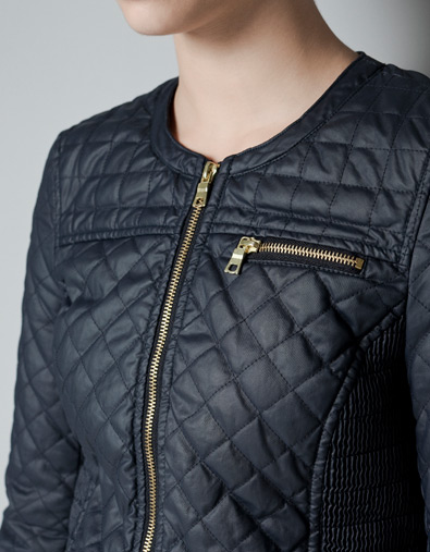 Daily Covet: Zara Quilted Jacket | little black sweats : zara leather quilted jacket - Adamdwight.com