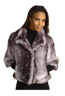 Calvin Klein Faux Fur Jacket Silver, Zappos.com $148