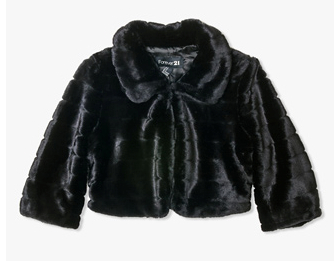 Faux Fur Cropped Jacket, FOREVER21.com $27