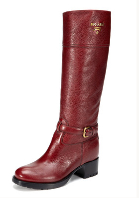 Prada Red Boots