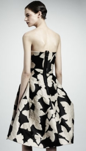 Lanvin_Strapless_Jacquard_Dress