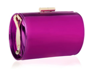 JIMMY CHOO Mini Tube mirrored-leather clutch, theoutnet.com $490