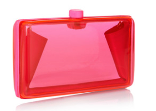 STELLA MCCARTNEY Alice neon resin box clutch, theoutnet.com  $795