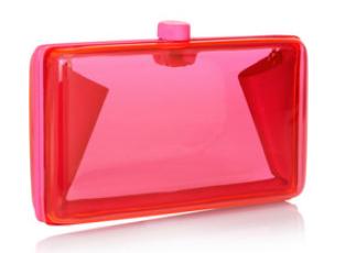 STELLA MCCARTNEY Alice neon resin box clutch, theoutnet.com  $795
