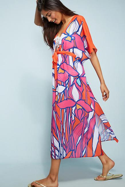 Allihop Square Caftan Cover-Up; anthropologie.com